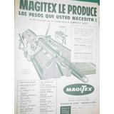 Publicidad Antigua Maquina Tejer Knitting Machine Magitex M1