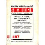 Revista Mexicana De Sociologia N° 1 Enero - Marzo De 1987