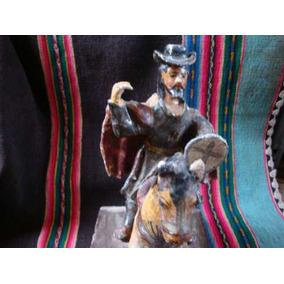 Antiguo Santiago Matamoros.caballo.sin Retablo.imagen Madera