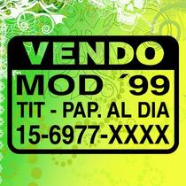 Sticker,calco,cartel Vendo Auto, En Vinilo Autoadhesivo