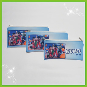 10 Cartuchera Personalizada De Tela Sublimada De 22 X 10 Cm