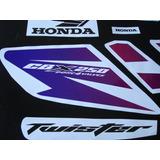 Calcos Para Honda Cbx 250 Twister Kit Completo Moto Blanca