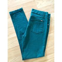 Jean Chupin Color Verde Elastizado