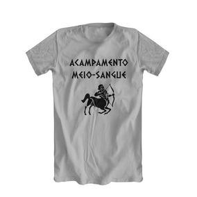 Camiseta Cinza Percy Jackson Acampamento Meio Sangue