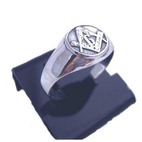 Anel Simbolo Maçônico # Maçônaria Em Relevo Prata De Lei 925