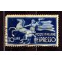 Itália 1945 * Cavalo Empinando * Domador * Tocha * 10l .azul