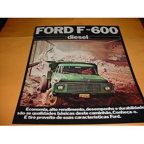 Folder Ford Caminhao F600 76 1976 77 1977 78 1978 Diesel