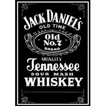 6131- Placa Decorativa Bebida Whisky Jack Daniels