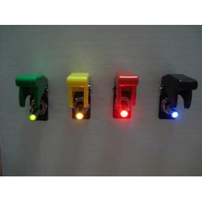 Chave Caça Com Led Botão Tic Tac Tuning Neon Todas As Cores