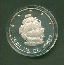 Moneda Plata 5ª Serie Iberoamericana Fragata A.r.a Sarmiento