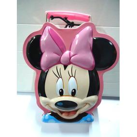 Lancheira Frasqueira 25 Cm Conforme Foto Minnie Disney Metal