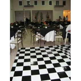 Pista De Dança - 5x4m - 20m² - Piso Xadrez Tapete Festa Dj