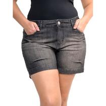 Bermuda Black Jeans Plus Size Boyfriend Preta Tamanho G4 54