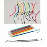 Kit Borrachinhas Aparelho+trançada+aplicador+braquetes+fios