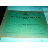 Catálogo De Peças Mercedes-benz Motor M 180 1968