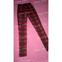 Calza Escocesa Lycra Gruesita Vs Colores - Xoara Jeans