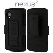 Lg Nexus 5 Funda Con Clip Para Cinturon 3 Capas Lote 2pcs!!