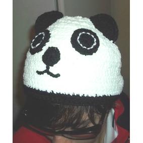 Gorro Oso Panda Tejido Al Crochet