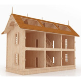 Casa De Muñecas Madera Mdf Envío Gratis Rompecabezas Gmcm017