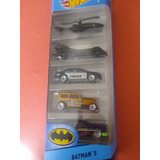Hot Wheels Batman Set De 5 Carritos Colección