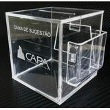 Urna Ou Caixa De Sugestão Em Acrílico C/ Gravação À Laser