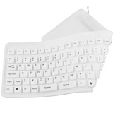 Teclado Flexible Usb Para Computador White Kb-f001