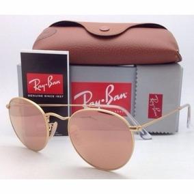 Oculos 3447 Rayban Round Rosê Feminino Redondo Barato