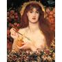 Venus Deusa Do Amor Flecha Maçã Pintor Rossetti Tela Repro