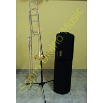 Trombone De Vara Tenor Bb F Modelo Profissional Hoyden