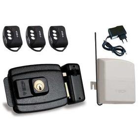 Kit Fechadura Elétrica + 3 Controles + 1 Fonte Ecp Iso 9001