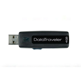 Pen Drive Data Traveler 100 Kingston 4gb Dt100 2.0 Preto