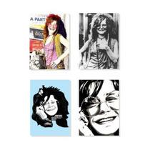 Janis Joplin - Coleção Com 04 Imãs De Geladeira (magnetos)