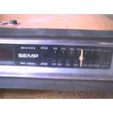 Rádio Relogio Semp De Mesa Antigo