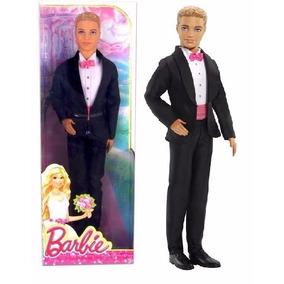 Ken Noivo Barbie Boneco Encantado De Terno Preto - Mattel