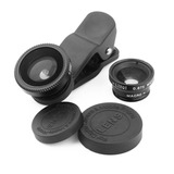 Kit De Lentes Fish Eye E Macro P/ Moto G Moto X Iphone 4s 5s