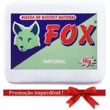 2 Massas De Biscuit Fox Natural 2kg Lembrancinha Pote Bolo