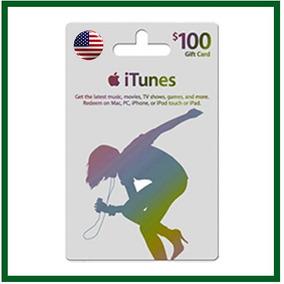 Itunes Gift Card $100 Usd* - Entrega Imediata!