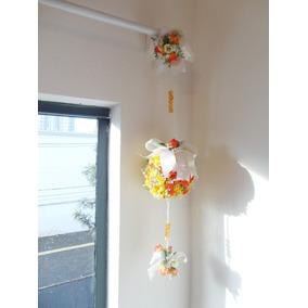Móbile Floral Topiaria - Enfeite Para Porta, Cortina E Teto