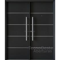 Puerta Doble Oblak Grafito 160x200 Primma Plus Phof 1783g