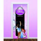 Adesivo Lousa Porta Princesas Disney Com Nome + Giz Brinde