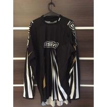 Camisa Asw Podium Preta Dourado Gg Motocross Trilha