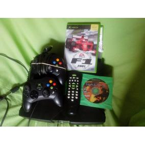 Xbox 1° Geração Com 2 Controles+2 Jogos Originais Leia Tudo