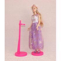 Suporte (5 Peças) Barbie, Monster High, Susi - Rosa