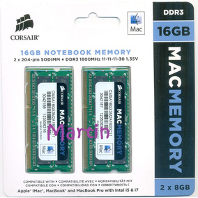 16gb = 2x8gb Sodimm Corsair 1600 Apple Imac Macbook Mac Pro