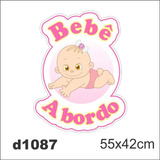 Adesivo D1087 Bebe A Bordo Feminino Para Carro Decorativo