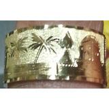 Leão Jóias Anel De Ouro Escrava Maciço 18k 7gr 10mm