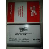 Em Branco Manual M-100 1.0 Effa Motors Original Proprietario