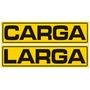 Calcomania Carga Larga Para Camion Amarillo Reflectivo