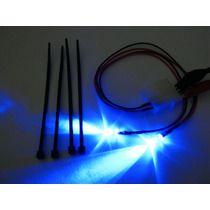 Kit 2 Led Brilho Neon Conector Molex Casemod Luz Negra Azul