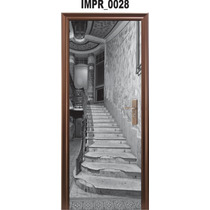 Adesivo Imp28 Para Porta Escada Escadaria Casarao Castelo